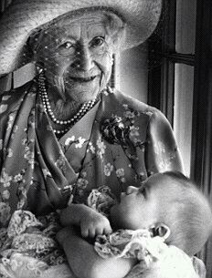 The Queen Mother with Prince William