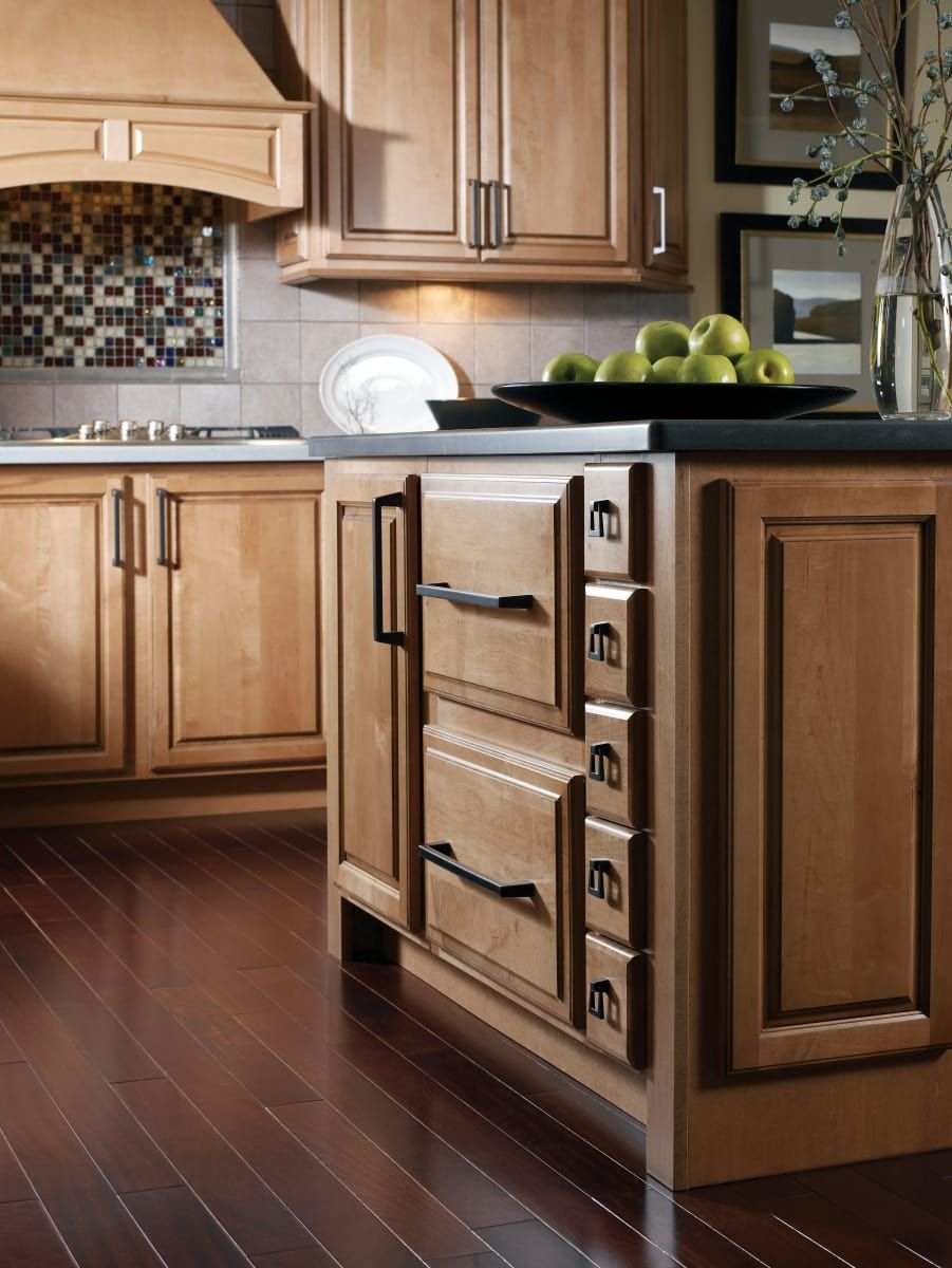 Amerock Bp55274bbr Black Bronze Blackrock 1 13 16 Inch Long Ring Cabinet Pull In 2020 Maple Kitchen Cabinets Hickory Kitchen Cabinets Kitchen Remodel
