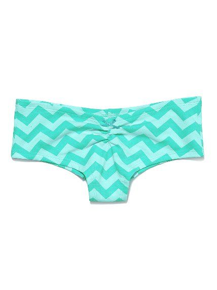 6c177f9c4bca Victoria's Secret PINK Ruched Hipster Panty- tonal blue chevron ...