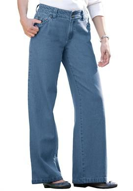4ee1434d5b2 Jean, wide leg styling | Plus Size Jeans & Pants | Woman Within ...