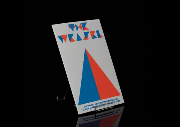 South London Gallery 'The Weasel' exhibition identity designed by Andy Rouse