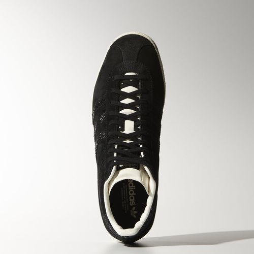 adidas Gazelle schoenen zwart goud