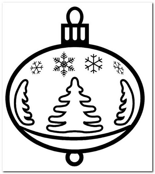Coloring Page Christmas Ornament Full