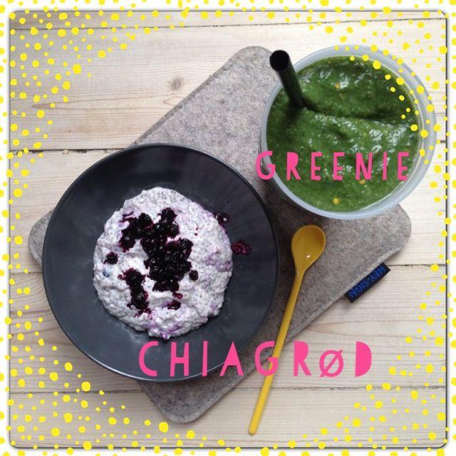Vanløse blues: Chia porridge with bluberries