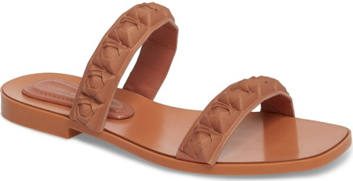 1ed6835c64ee Stuart Weitzman Rosita Dual Strap Slide Sandal in Beige. Pre-order this  style today! Add to Shopping Bag to view approximate ship date.