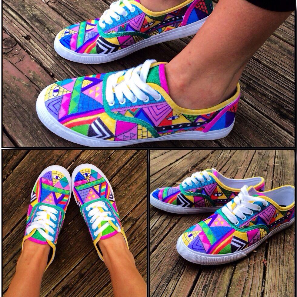 Diy Vans Sharpie Shoes Ash Shoes Painted Shoes