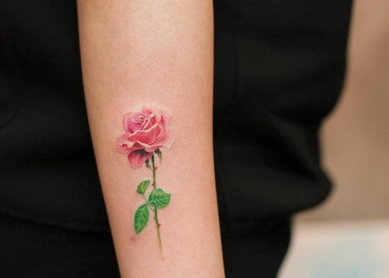 Pink Tattoo: 20 Concepts For A Classy And Minimalist