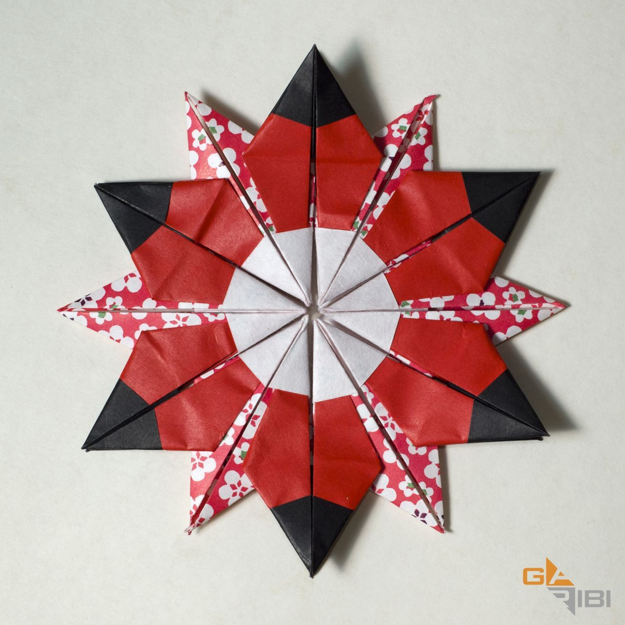 star flower origami diagram 02 ford windstar wiring diagrams 12 pointed and square squared origamiusa