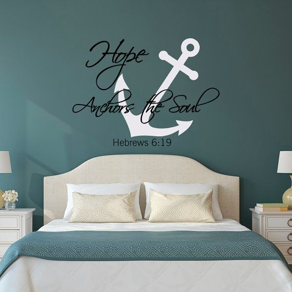 Wall Decal Hope Anchors The Soul Hebrews 6:19 Quote  Anchor Bible Verses  Wall