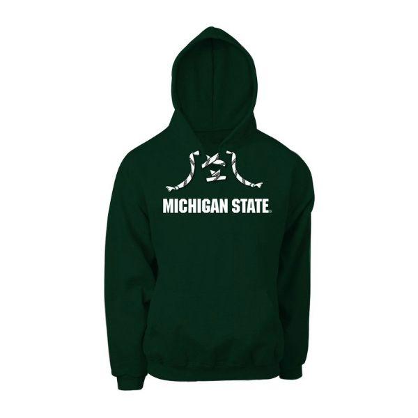 Michigan State Hockey Lace Hoodie Lace Hoodie Michigan State Hoodies