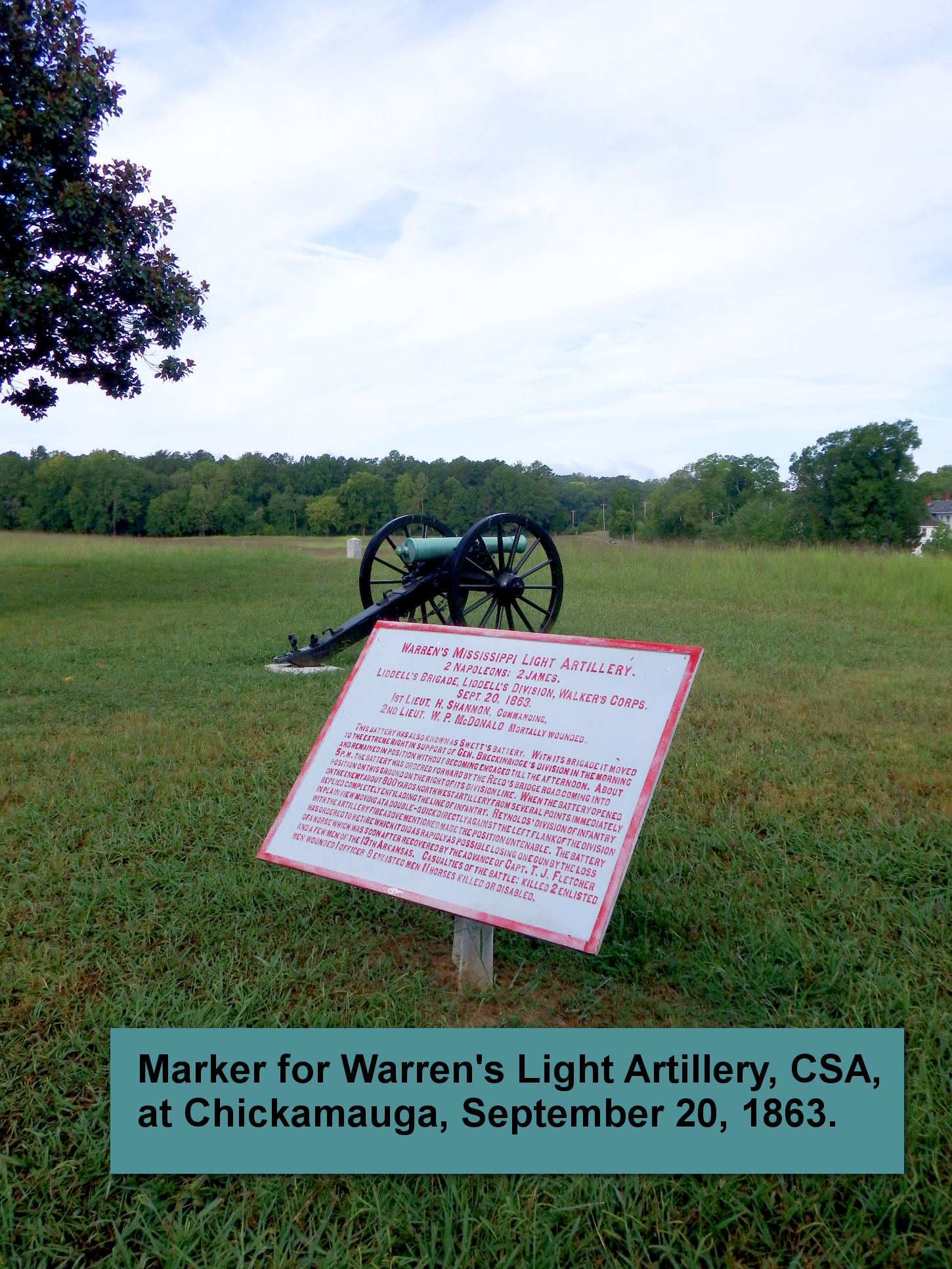 Peace was not restored by guns alone. Chickamauga