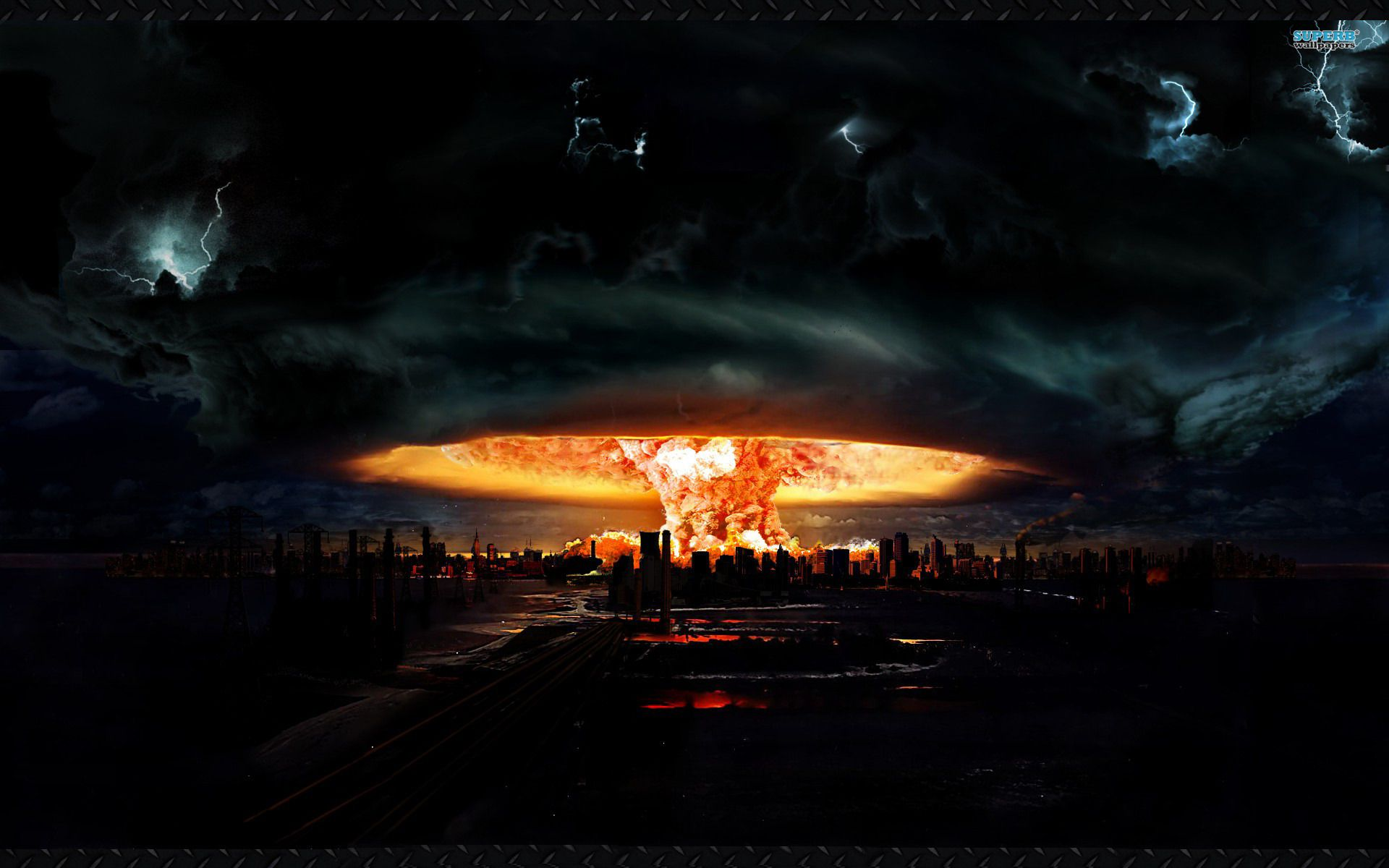Nuke Wallpapers Cityscape Apocalypse End Of The World