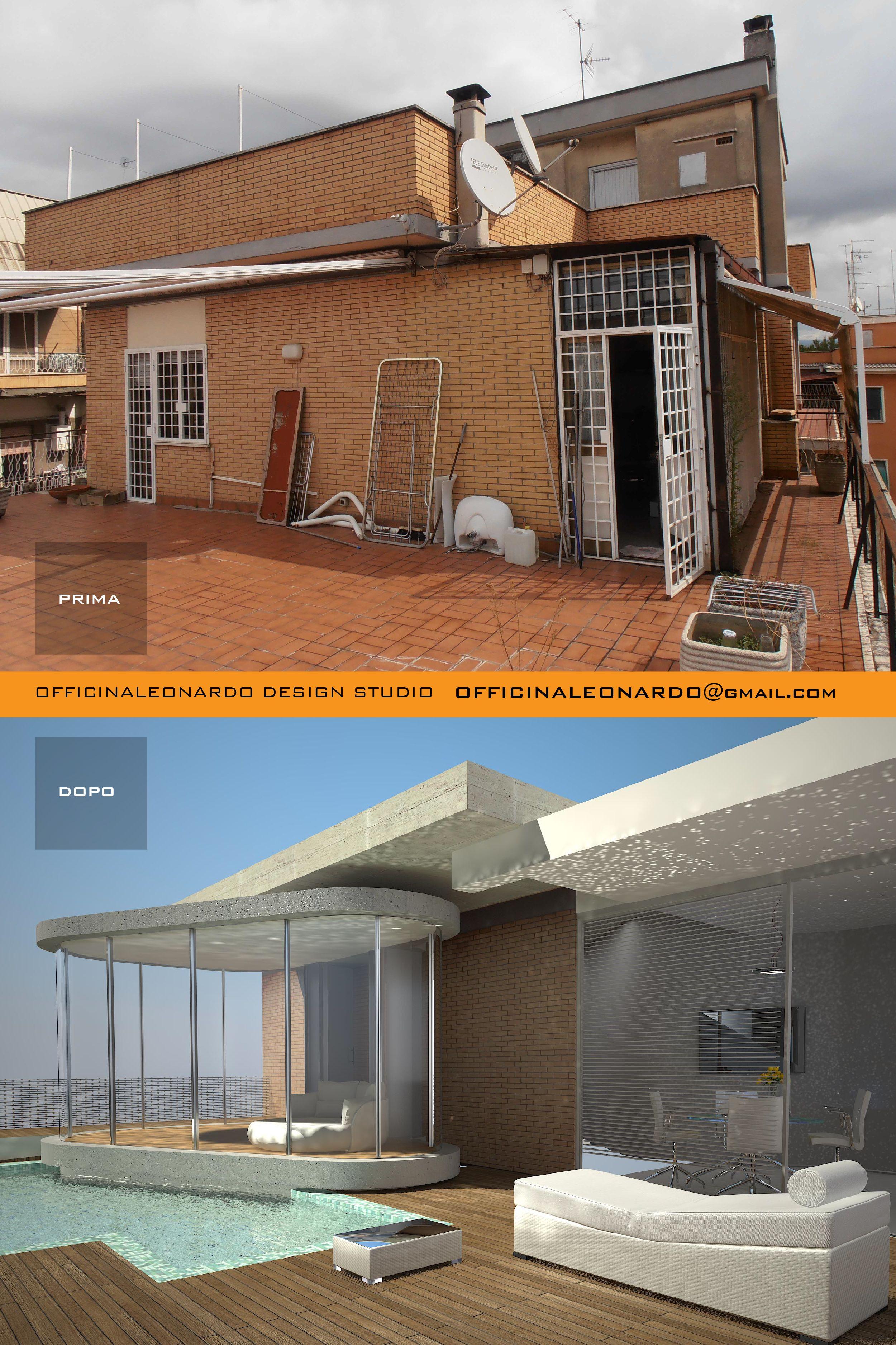 Terrazza Con Piscina Piano Attico In Un Condominio A Roma Ristrutturazione Casa Condominio Ristrutturazione Appartamento