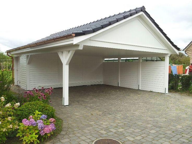 Doppel-Carport mit Satteldach, Holz Garage, hergestellt vom Holzhof Friedrichsruh GmbH