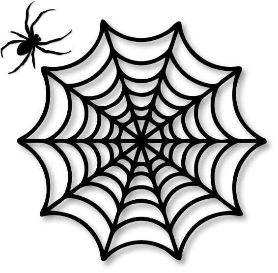 Black Spiders Web With Spider Silhouette 25x25 Cm Spider Web With 7cm Spider Perfect For Halloween Part Decor Place On Vector Patroon Spin Tatoeage Silhouet