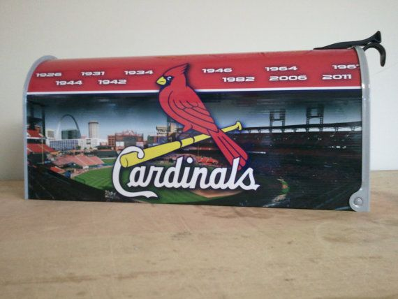 St Louis Cardinals Mailbox by avwallart on Etsy Products I Love