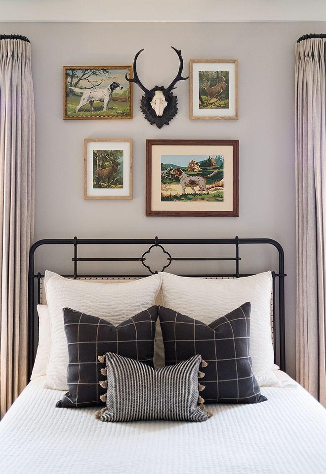 Stonington Gray HC 170 Benjamin Moore Farmhouse bedroom