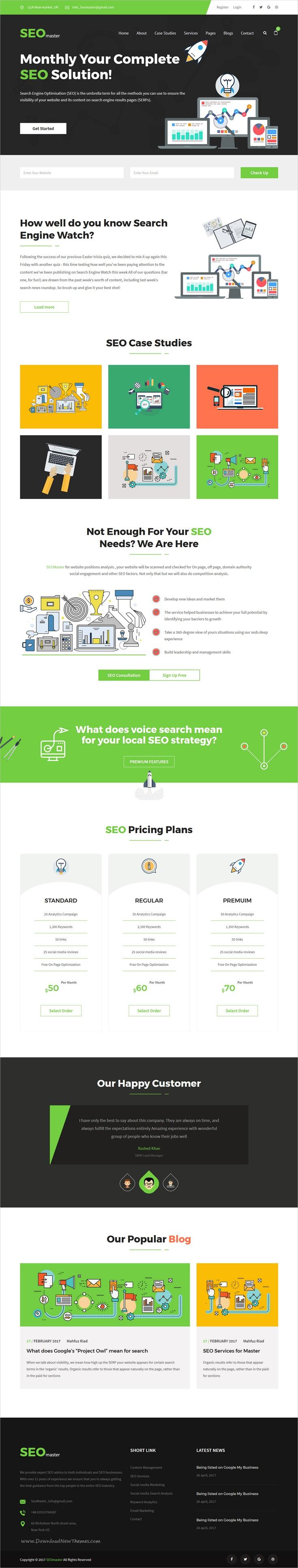Charmant Seo Website Vorlage Ideen - Beispiel Business Lebenslauf ...