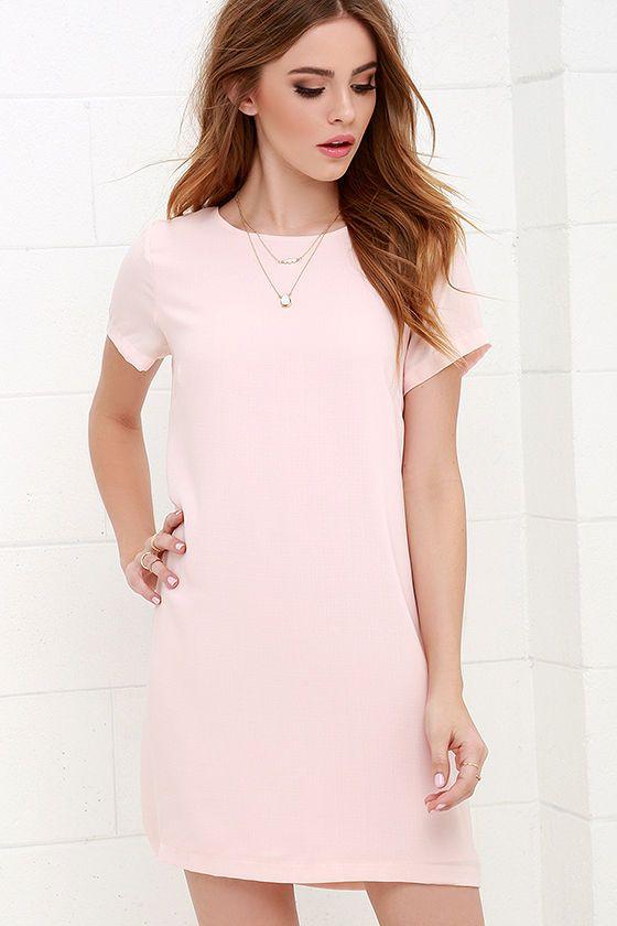Shift and Shout Blush Pink Shift Dress | Blush pink, Clothing and ...