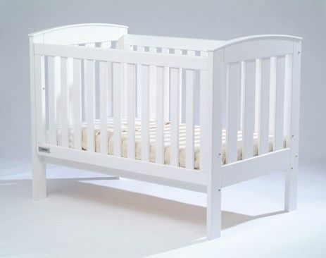 Baby Bunting Tasman Eco Siena Cot White Converts to junior bed