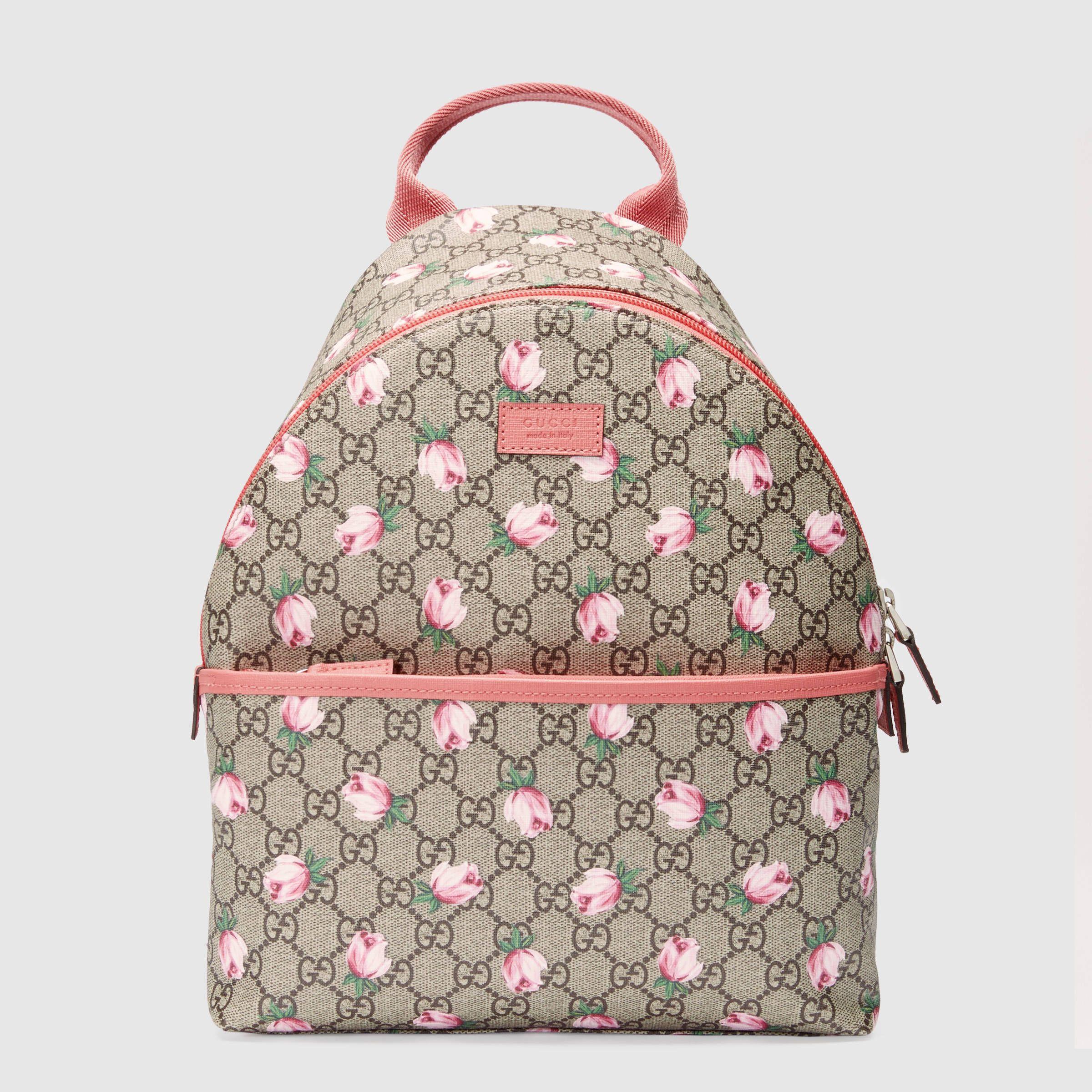 Gucci Children S Gg Flowers Backpack Sac Fille Sac à Dos Enfant Chaussures Bébé