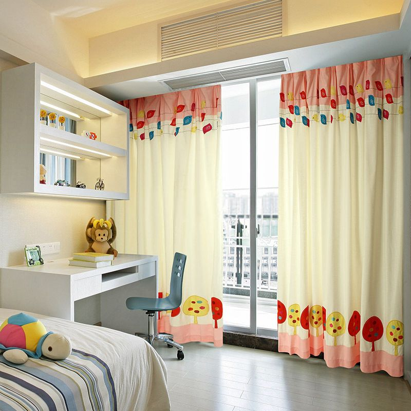 Kids Bedroom Curtains Entrancing Blackout Kids Bedroom Curtains With Patterns Cute Chicken Fresh Decorating Inspiration