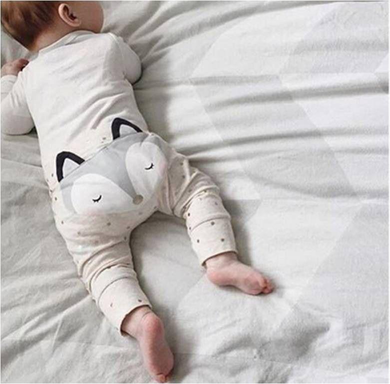 5ea8ae545e101 Pantalon bébé mixte avec tête de renard   Mode Bébé par crystal-creations