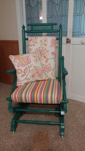 Reupholstered rocker
