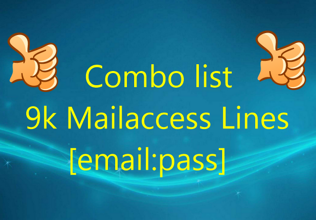 Combo list 9k Mailaccess Lines [email:pass]   http