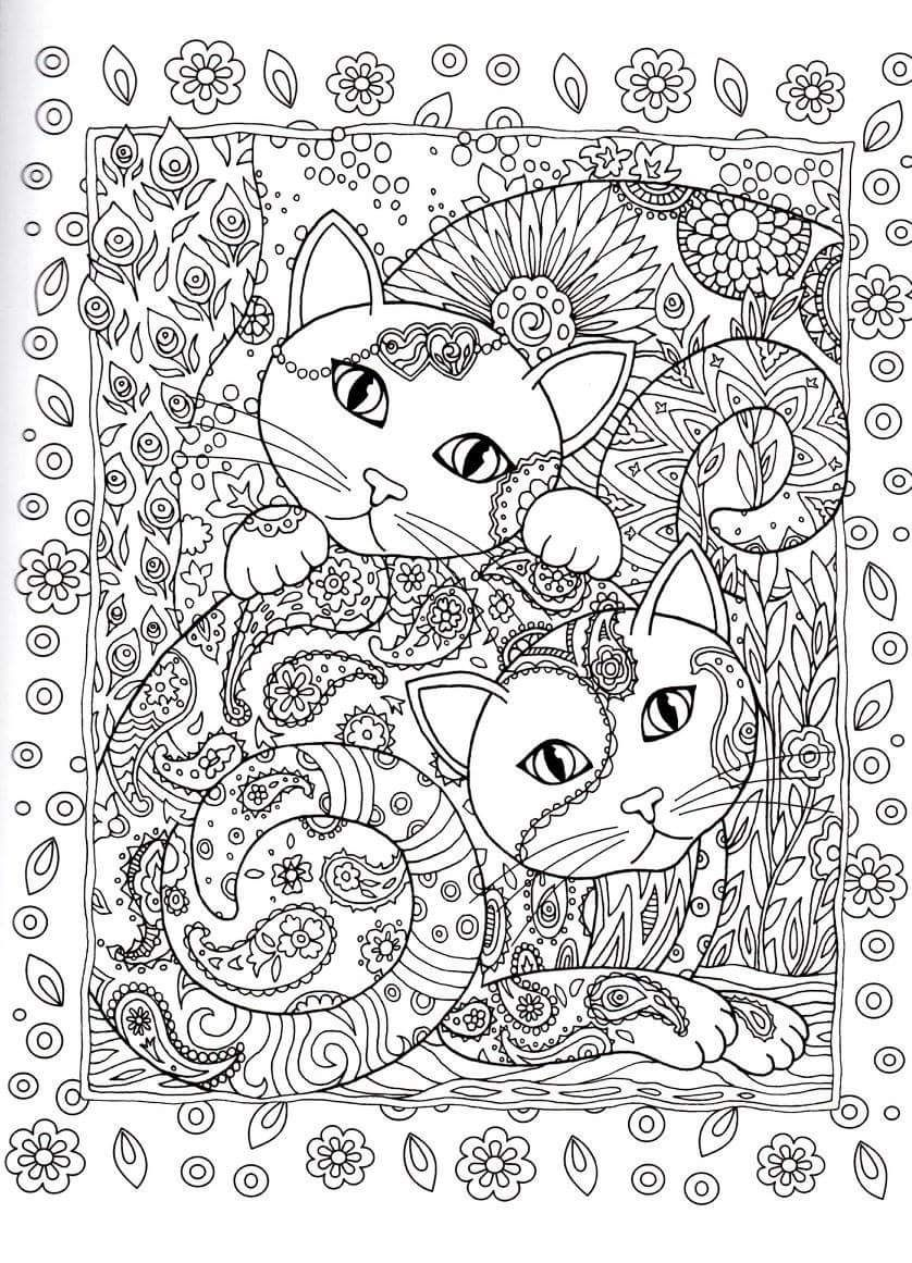 Gatos para Colorir | Zentangle | Pinterest | Gatito para colorear ...