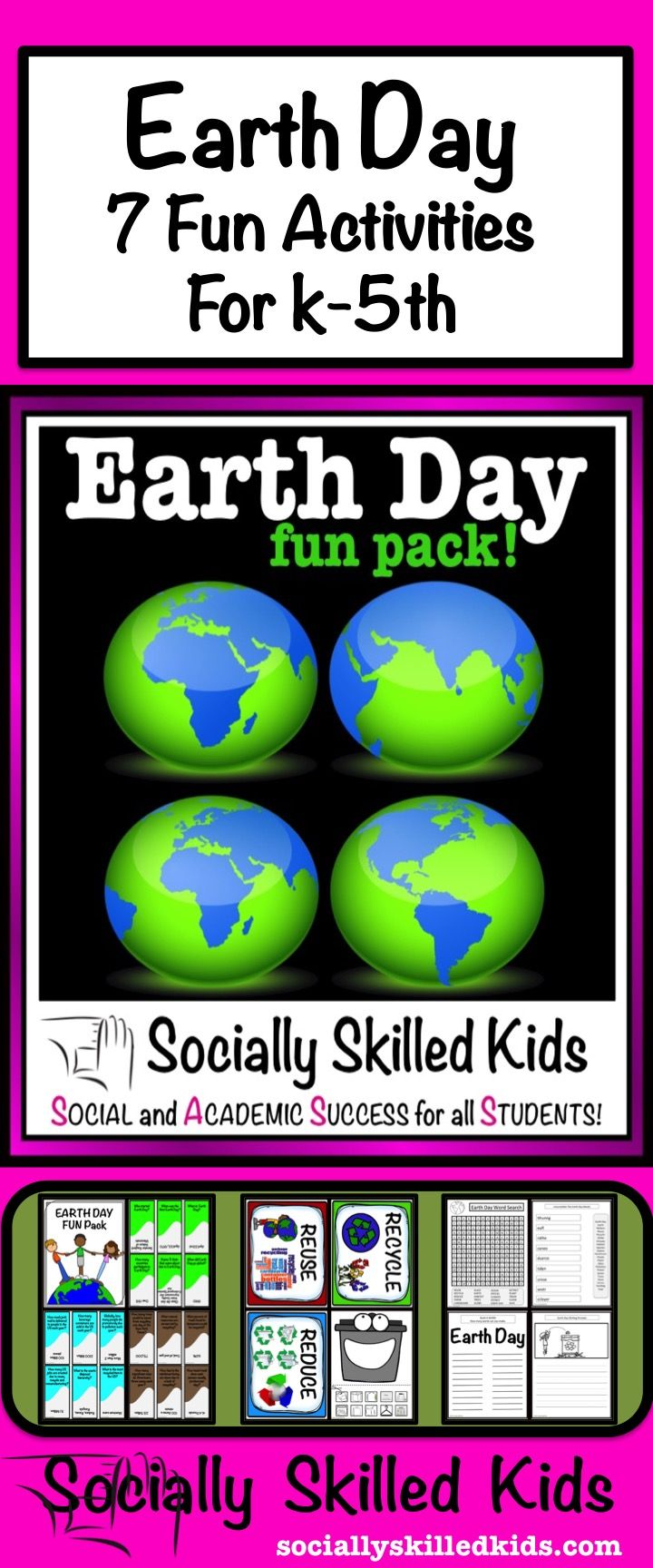 Earth Day Activities Fun Pack || 7 Earth Day Activities For