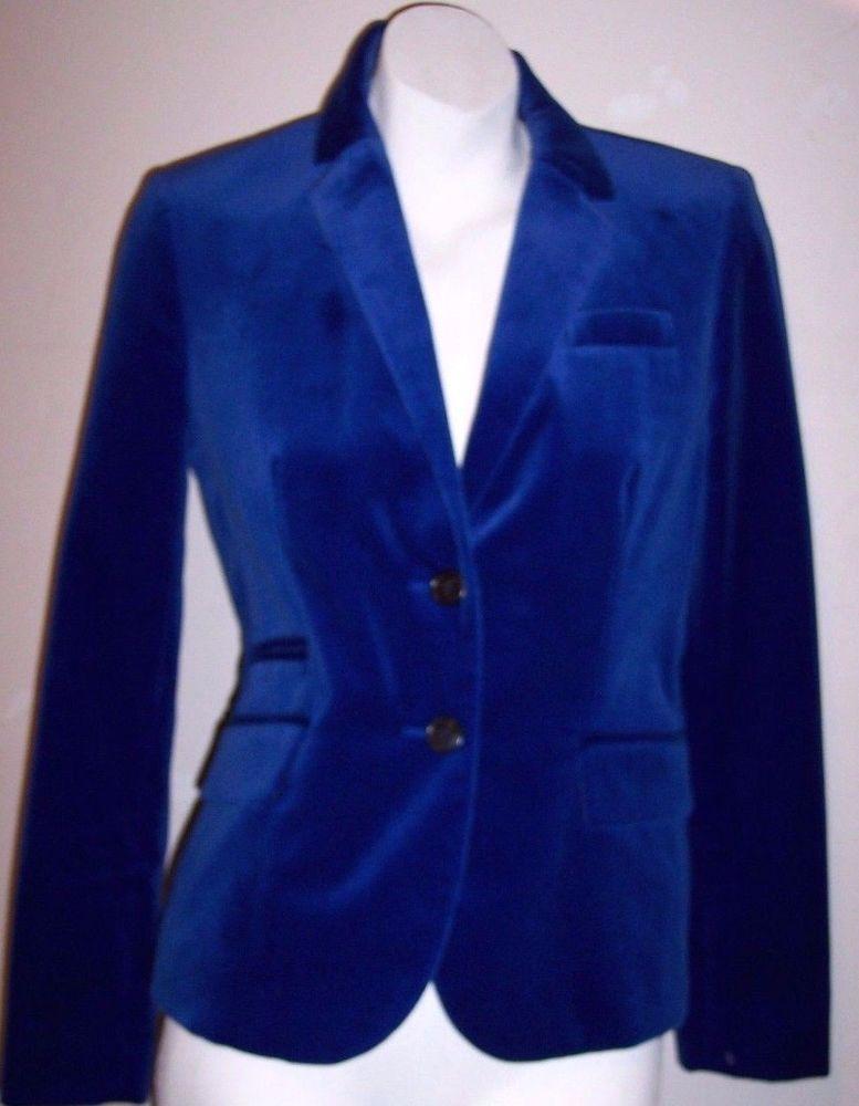0466e7f0f83 J Crew Schoolboy Blazer 4 Hanukkah Blue Velvet Dressy Holiday Jacket  Women s 4  JCrew  Blazer