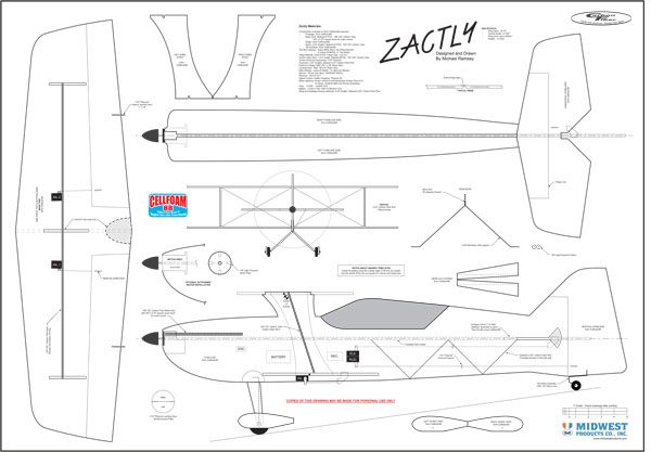 indoor rc plane plans - simple More | Scratch BUilds