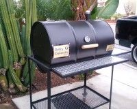 Single Barrel Grill With Ash Pan,  Moss Custom BBQs