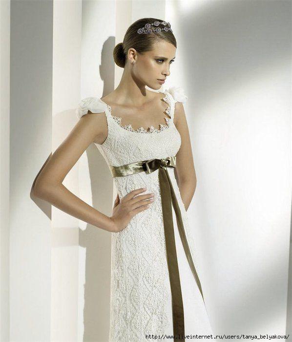 730203ba3f4 Вязаное свадебное платье. Обсуждение на LiveInternet - Российский Сервис…