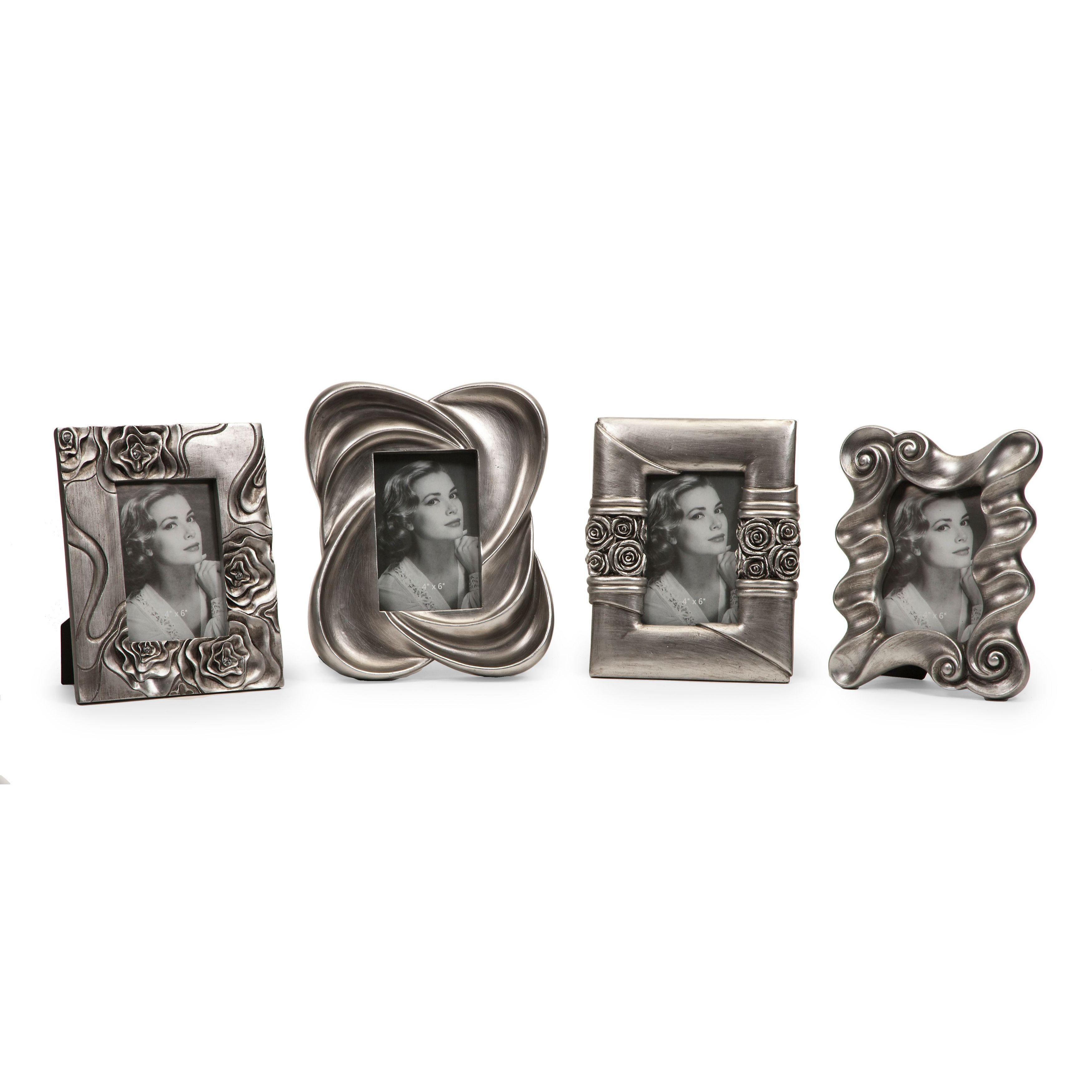 Imax Handsel Silver Frames (Set of 4) (Frames), Size 10x13 ...