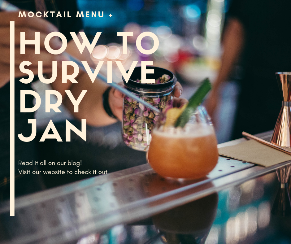 How to survive Dry Jan! Check out out blog to find out how + our Mocktail menu ideas!  #DryJanuary #DryJanuary2019 #mocktails #mixology #mixologist #DryJan #dryice #cocktails #mocktology #smokingdrinks #dryuary