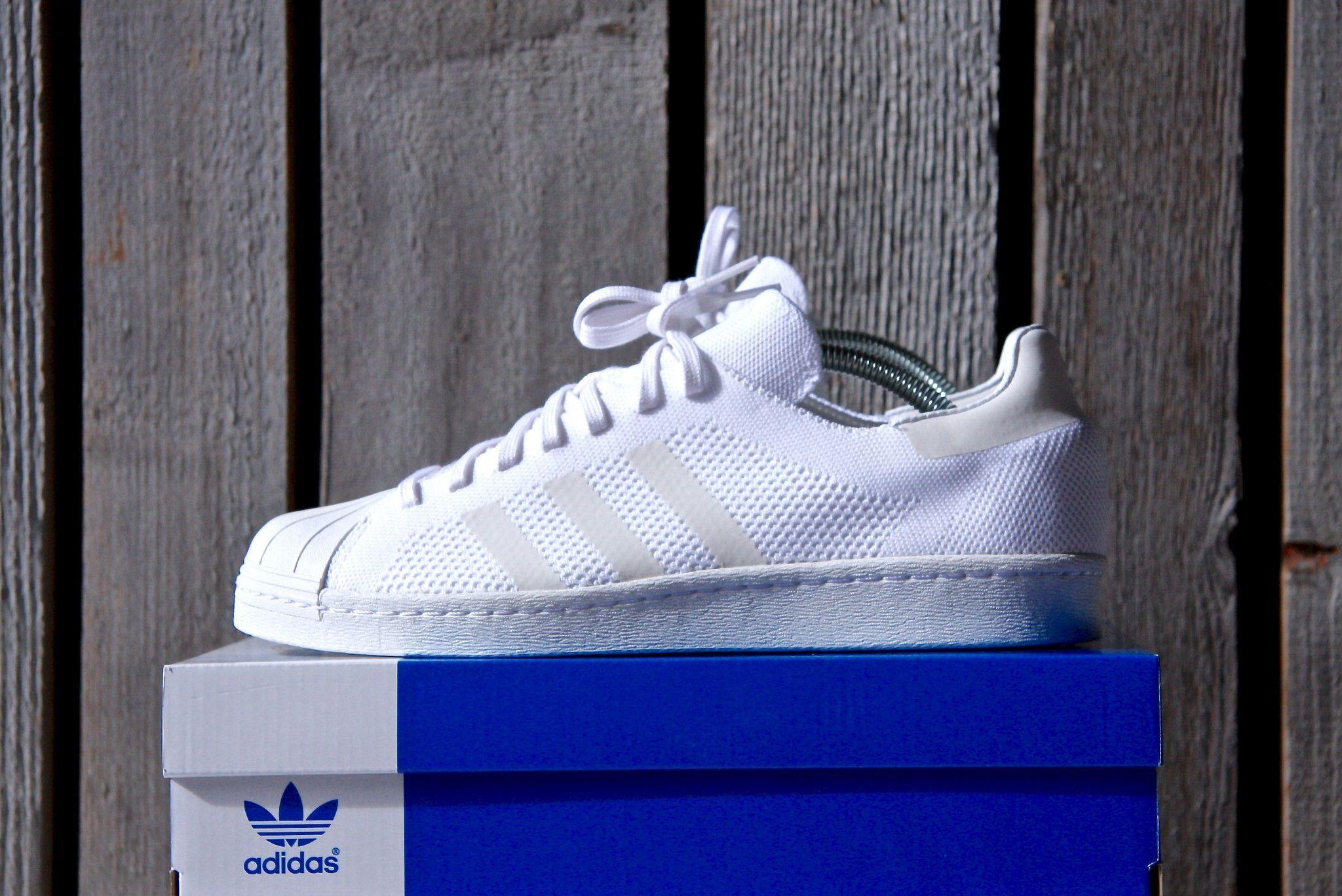 f802723f40305b Adidas Superstar 80 s Primeknit (White)
