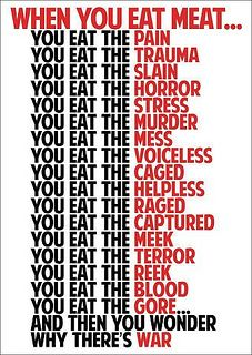 when you eat meat . . .