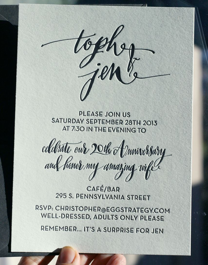 Simple and effective handlettered party invitation envelopes