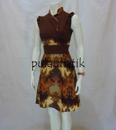 530088a00665 Desain terbaru busana batik model dress dari bahan katun yang bagus  dipadukan dengan celana panjang