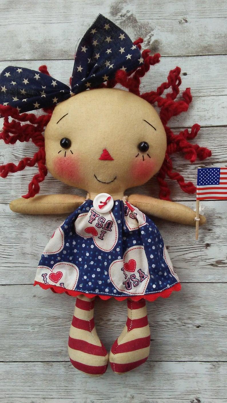 Raggedy Sock Doll Pattern
