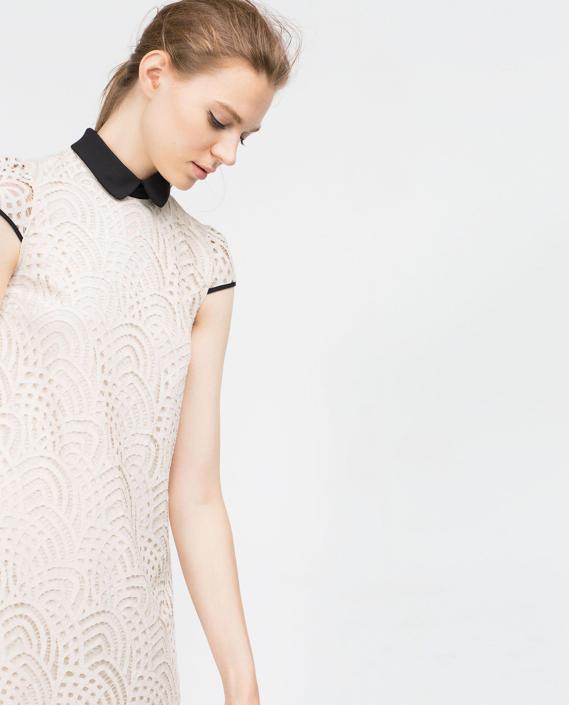 White lace dress zara  Lace dress  An EyePopping  Pinterest  Lace Minis and Zara