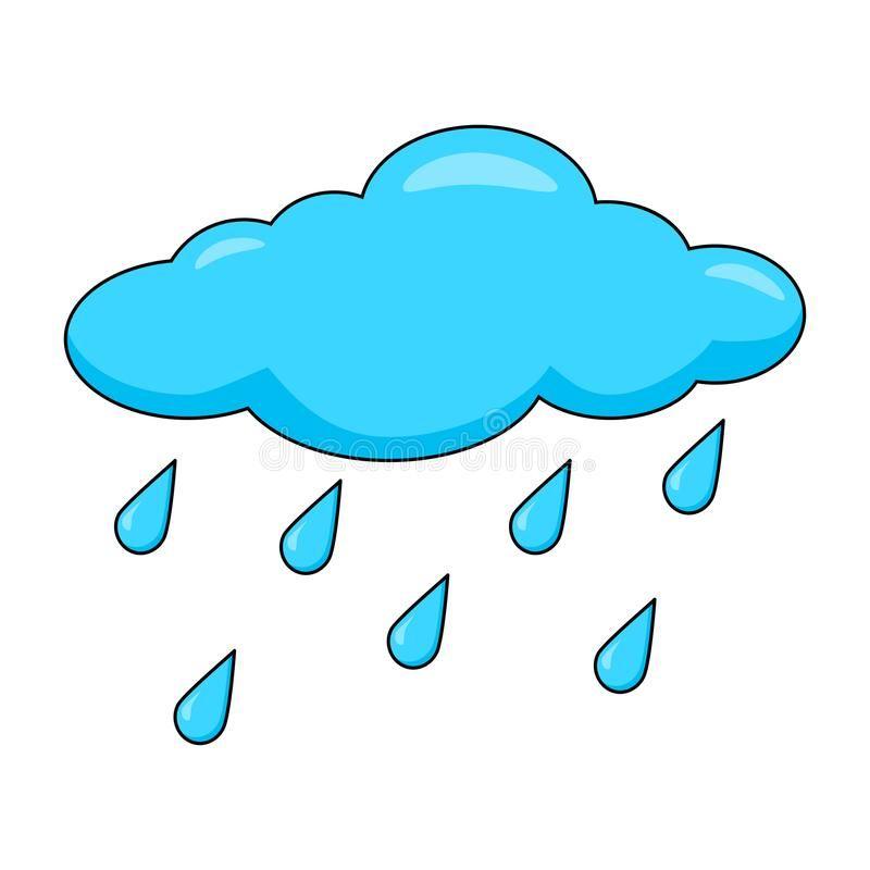 Cartoon Cloud With Rain Drops Isolated On White Background Sponsored Rain Cloud Cartoon Drops Backg Cartoon Clouds Rain Cartoon Girls Cartoon Art
