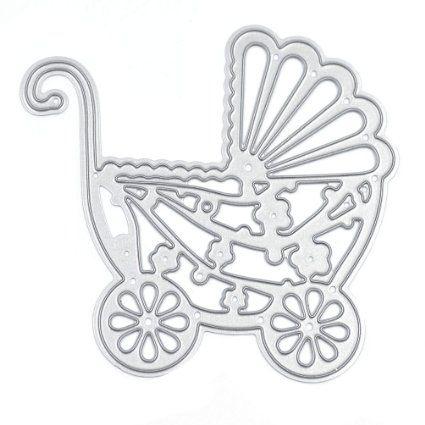 DIY Baby Carriage Cutting Dies Stencil Scrapbooking Embossing Album Paper Card