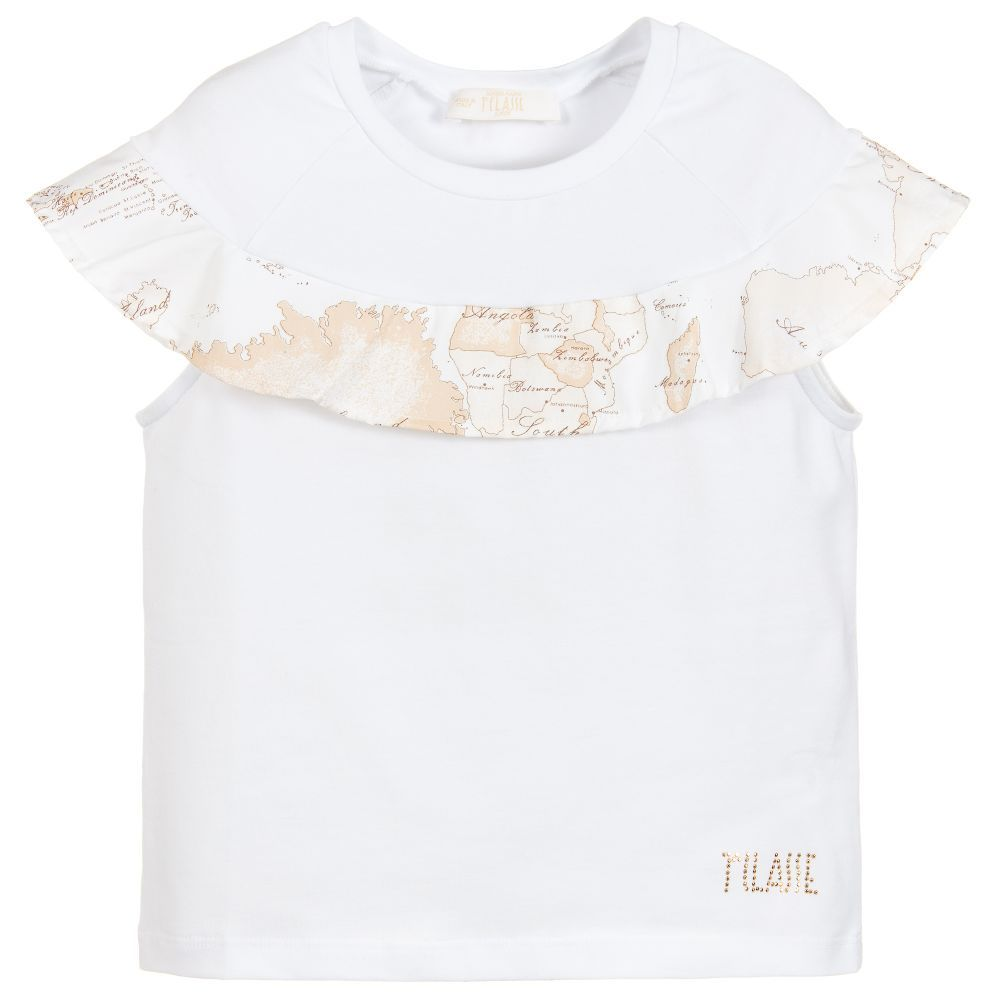 68452ae5d23d Girls Geo Map Frill T-Shirt