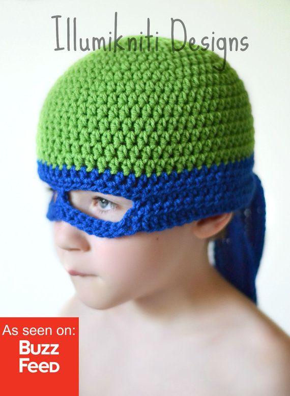Kids TMNT Hat Teenage Mutant Ninja Turtle Hat by illumiknitiDesign ...