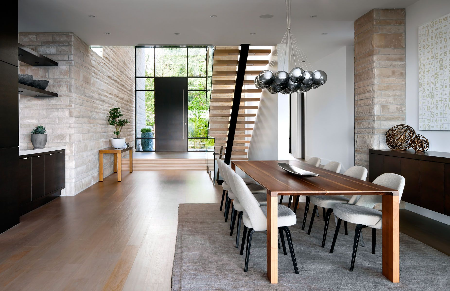 Vancouver based studio craig chevalier completed the burkehill residence in collaboration with interior designer claudia leccacorvi principal of raven