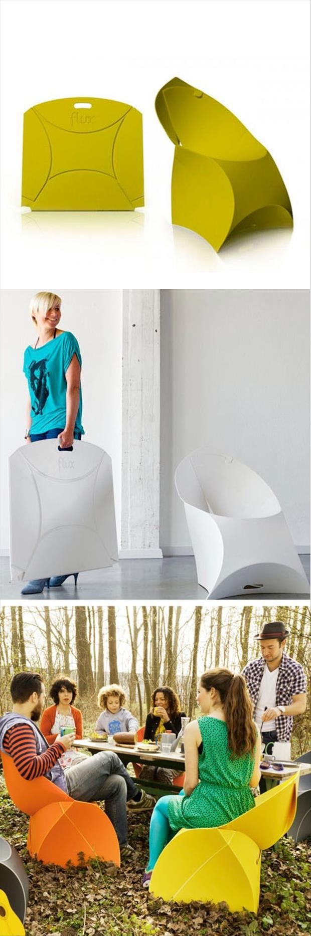 Simple ideas that are borderline genius 28 pics inventions funny pictures about flux origami chair folds flat for easy storage oh and cool pics about flux origami chair folds flat for easy storage jeuxipadfo Gallery