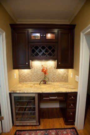 Home Design With Built In Kitchen Desk Work Area 4